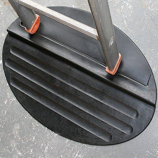 Anti Slip Rubber Ladder Mat Stabilises For Safety Heavy